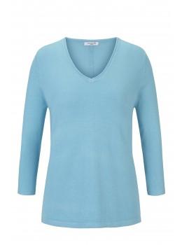 Sportlicher Pullover mit V-Ausschnitt