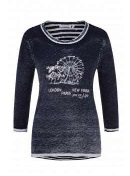 Trend-Pullover mit gestreiftem Rücken