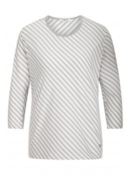 3/4-Arm Shirt mit Diagonalstreifen