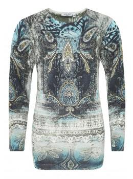 Modischer Pullover mit Exklusivdruck