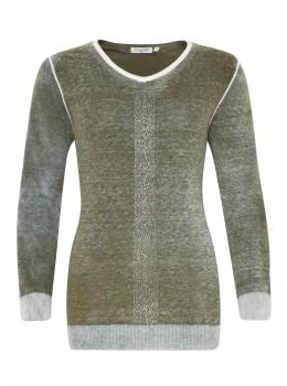 Trendiger Pullover mit schönem Farbeffekt