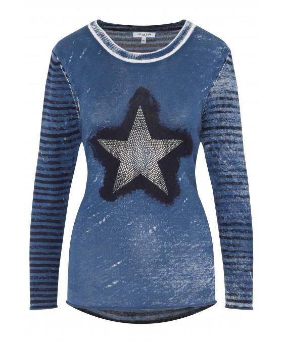 Trendiger Pullover mit schönem Farbeffekt 18122-663 front