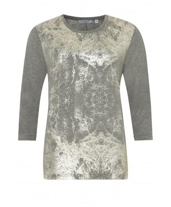 Feminines Shirt mit Folienprint 18193-104 front
