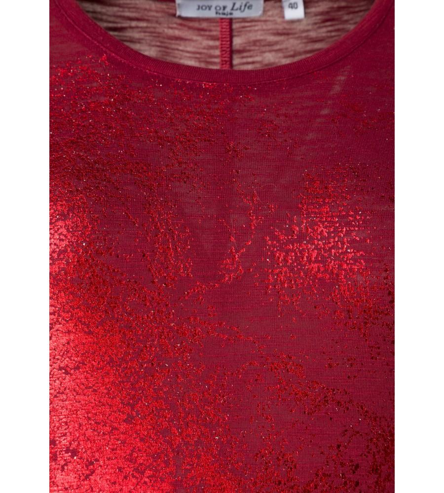 Feminines Shirt mit Folienprint 18193-373 detail1