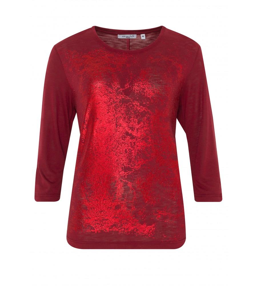 Feminines Shirt mit Folienprint 18193-373 front