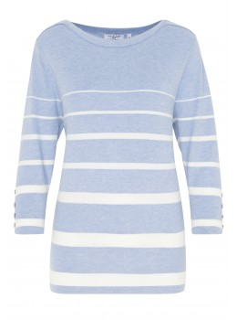 Modischer Pullover mit Streifen