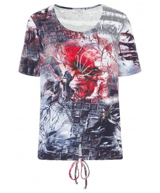 Modisches Shirt mit Silberprint 18320-609 front