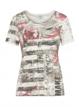 Shirt mit trendigem Folienprint