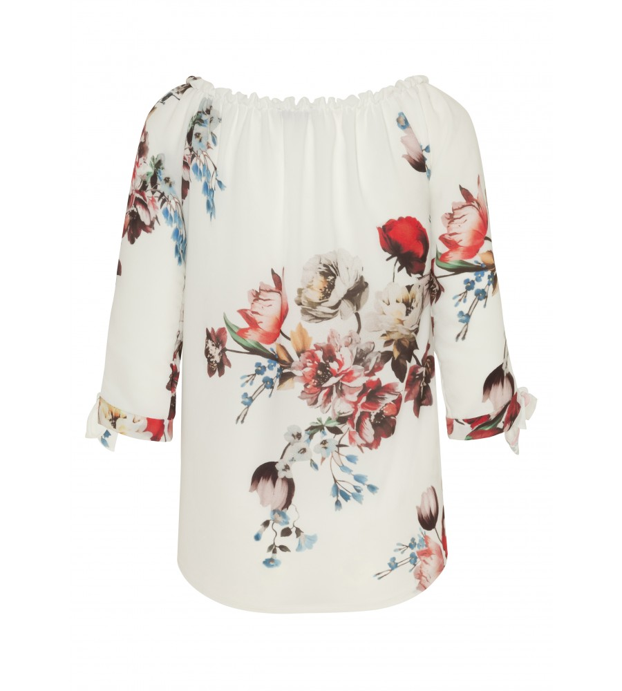 Modische Bluse im Carmen Stil 18373-202 back