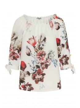 Modische Bluse im Carmen Stil