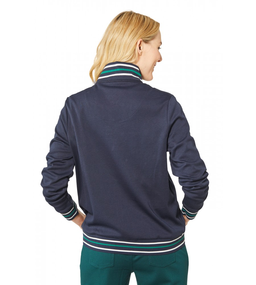 Sweatjacke in Blousonform 18698-609 back