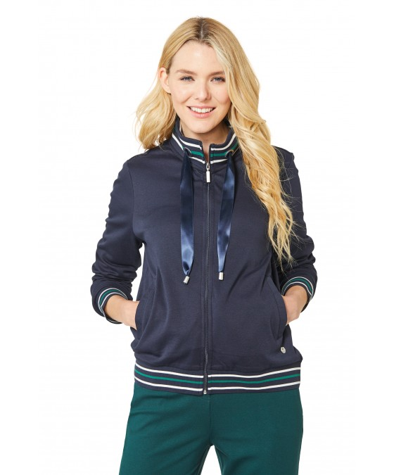 Sweatjacke in Blousonform 18698-609 front
