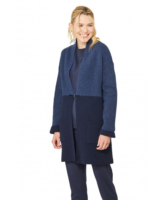 Modische Long-Strickjacke 18749-609 front
