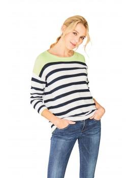 Trendiger Pullover Dreiviertelarm