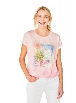 Trendiges Shirt Washout-Optik