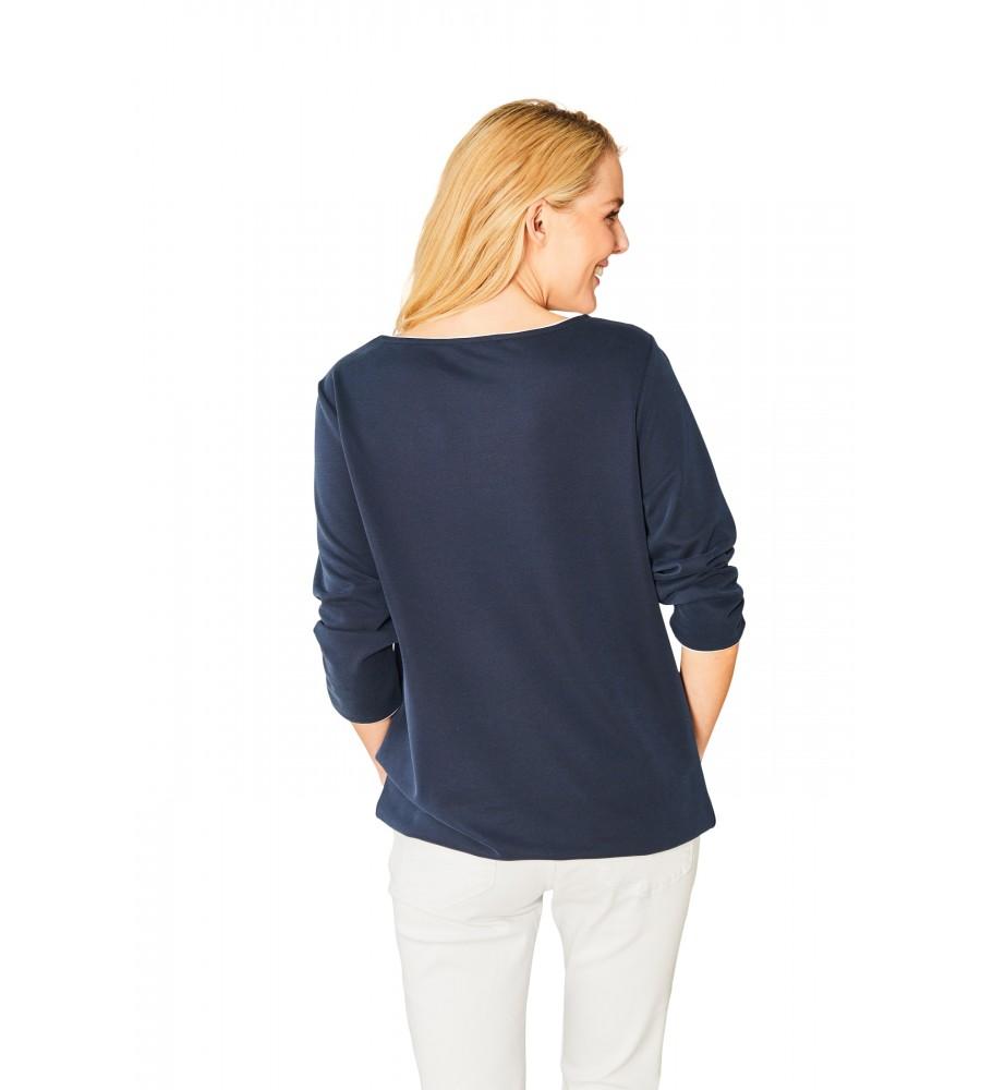 Hochwertiges Shirt Rundhals Dreiviertelarm 18824-609 back