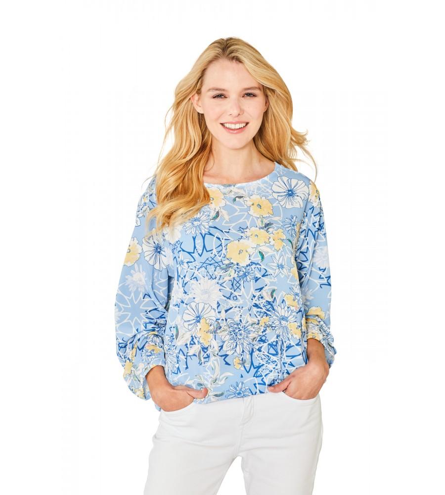 Stylisches Shirt Rundhals Halbarm 18858-680 front