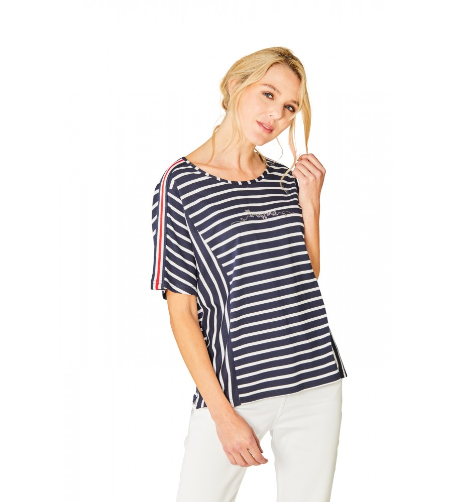 Feminines Shirt Rundhals Halbarm 18871-609 front