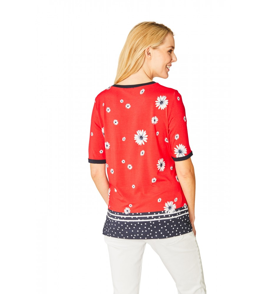 Hochwertiges Shirt Rundhals Halbarm 18877-343 back