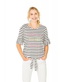 Trendiges Shirt Rundhals Halbarm