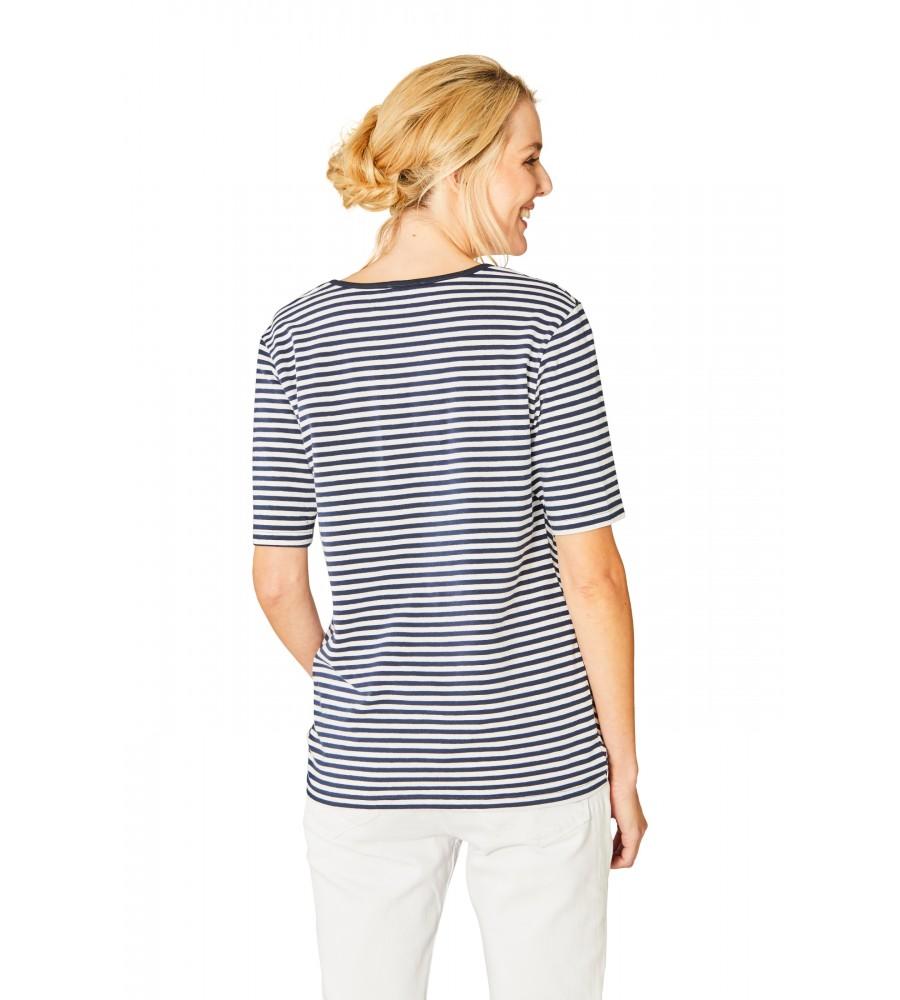 Spannendes Shirt V-Ausschnitt Halbarm 18888-609 back