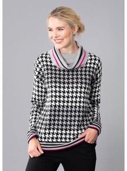 Pullover mit Pepita Jacquard