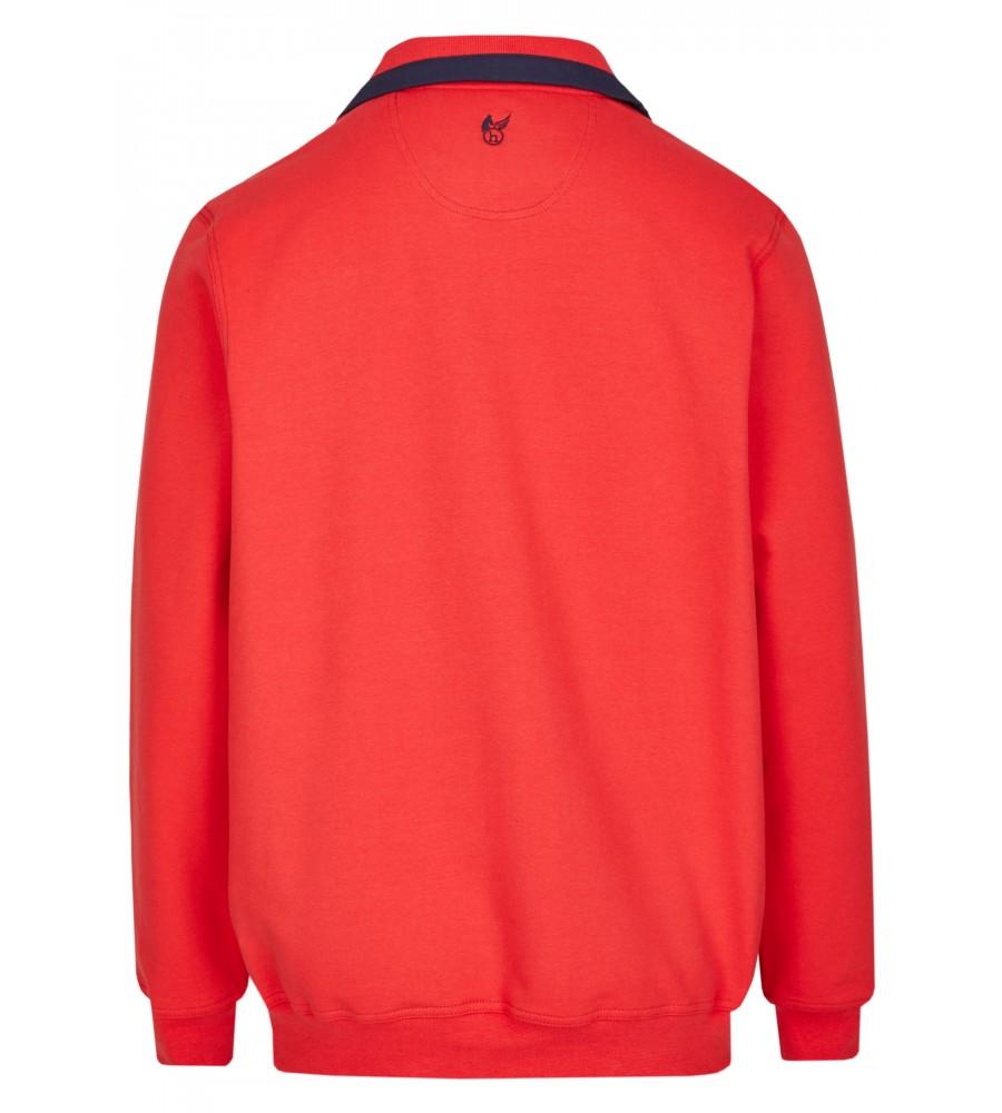 Sweatshirt mit Troyerkragen in großen Größen 20023-6X-373 back