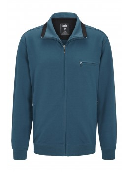 hajo Polo & Sportswear Sweatshirtjacke mit Troyerkragen