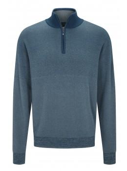 hajo Polo & Sportswear Sportiver Baumwoll-Pullover mit Stehkragen und Zipper