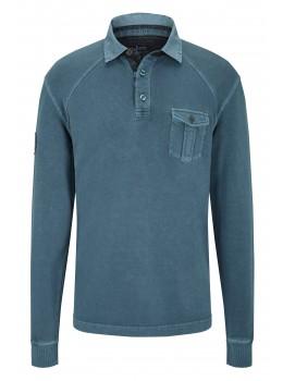 hajo Polo & Sportswear Sportliches Washer-Rugby-Shirt