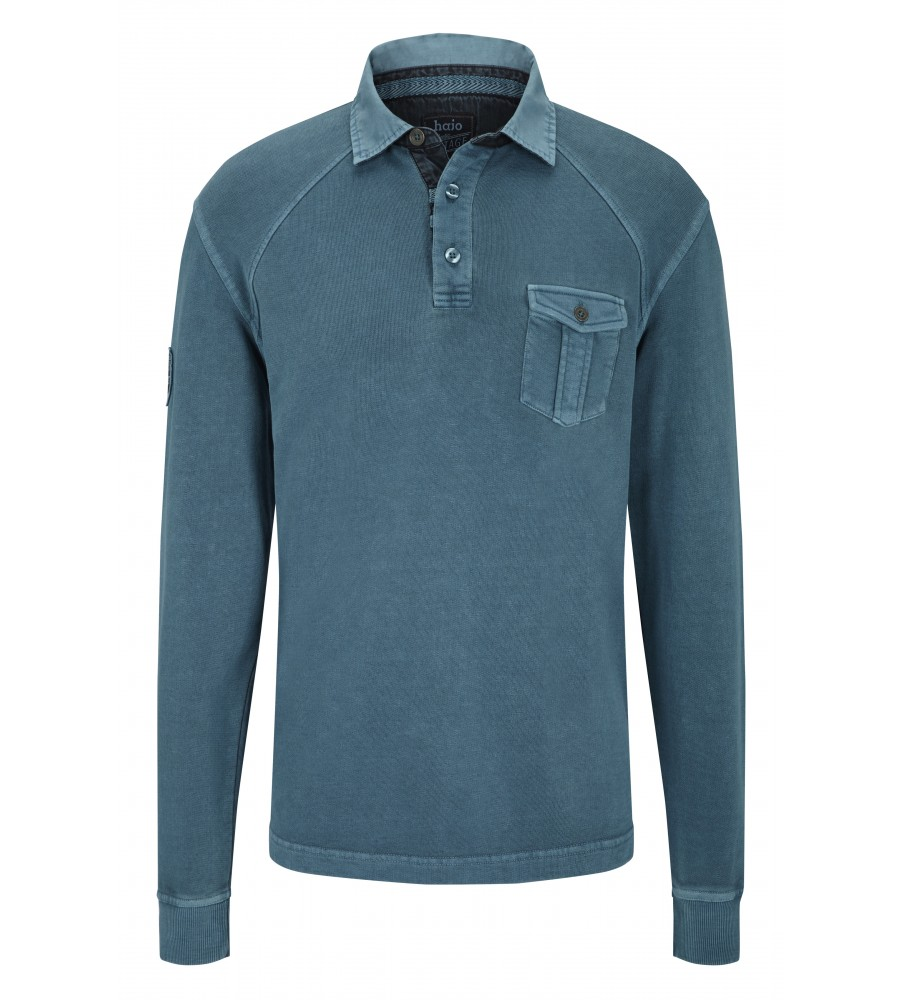 hajo Polo & Sportswear Sportliches Washer-Rugby-Shirt 25750-750 front