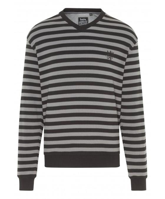 Sweatshirt mit Waffel-Pikee 25939-100 front