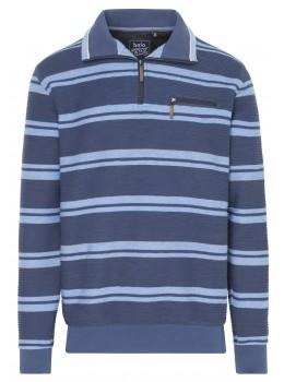 Sweatshirt Troyer mit Reliefstruktur