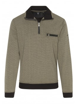 Troyer-Sweatshirt in Dreiton-Optik