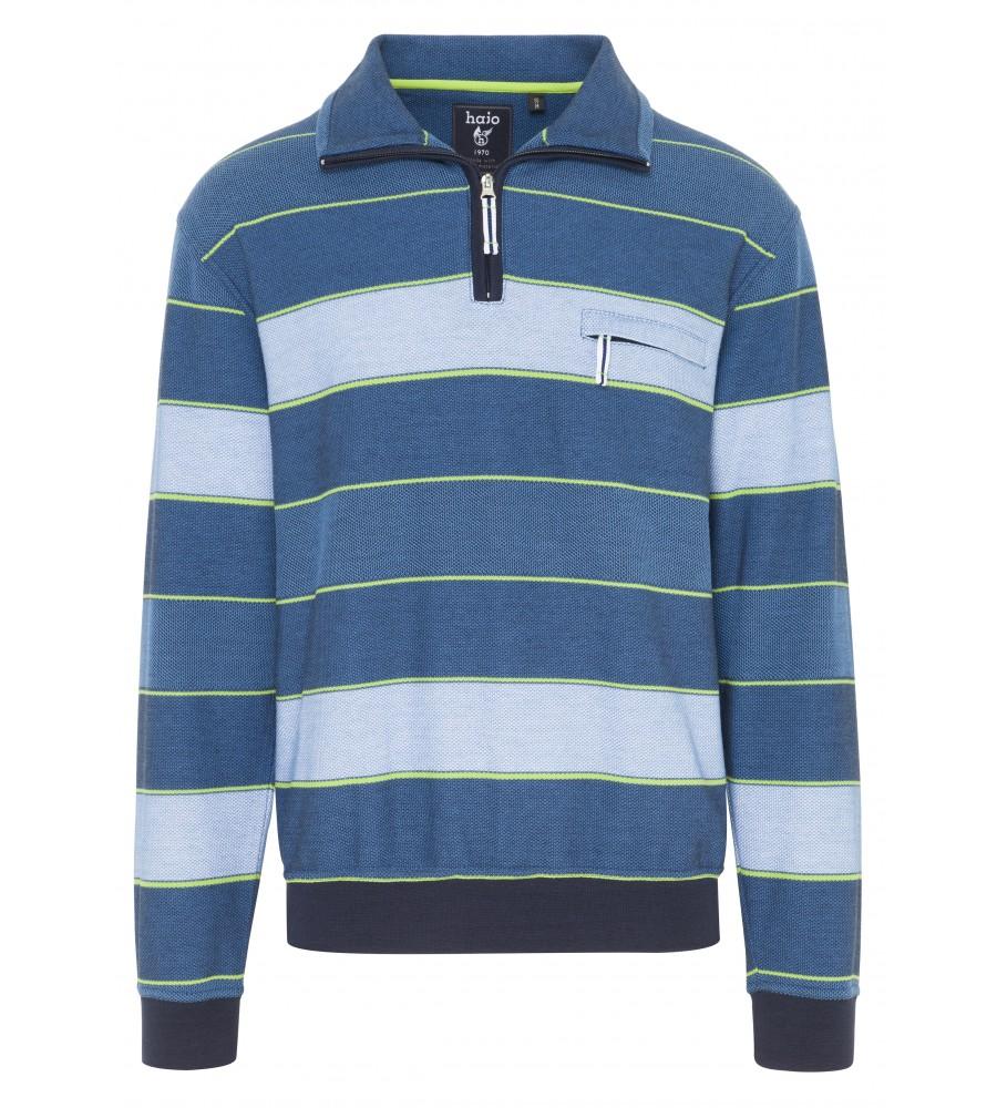 Troyer-Sweatshirt mit Ringeln 26074-600 front