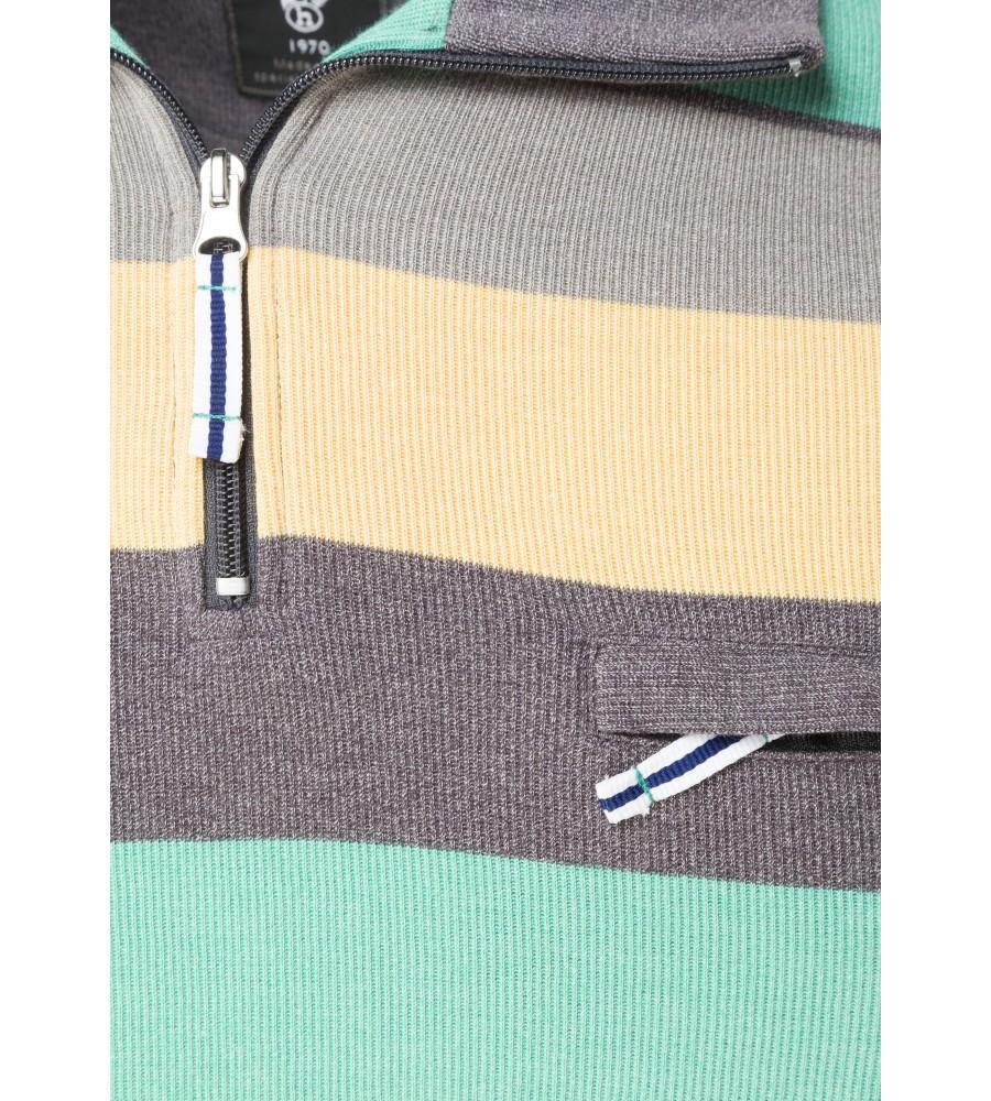 Troyer-Sweatshirt garngefärbt 26081-102 detail1