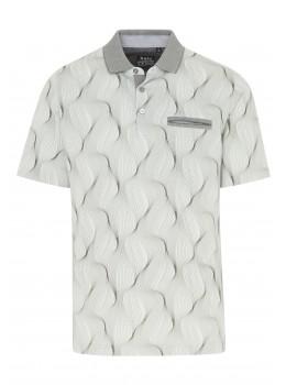 Poloshirt Alloverdruck