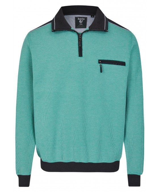 Sweatshirt mit Troyerkragen 26222-526 front