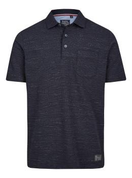 Jacquard-Poloshirt aus Effektgarn