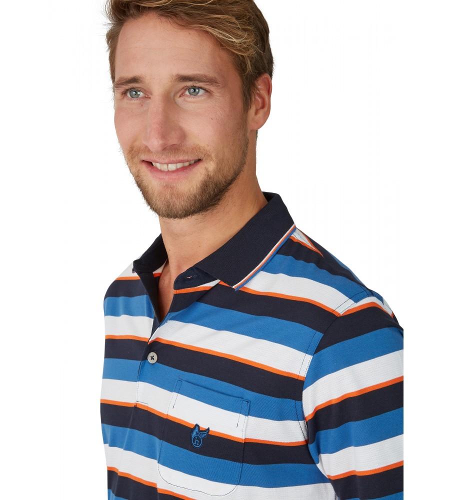 Poloshirt mit garngefärbtem Streifenverlauf 26618-609 detail1
