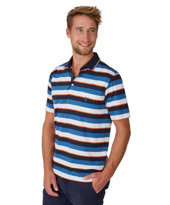 Poloshirt mit garngefärbtem Streifenverlauf 26618-609 front