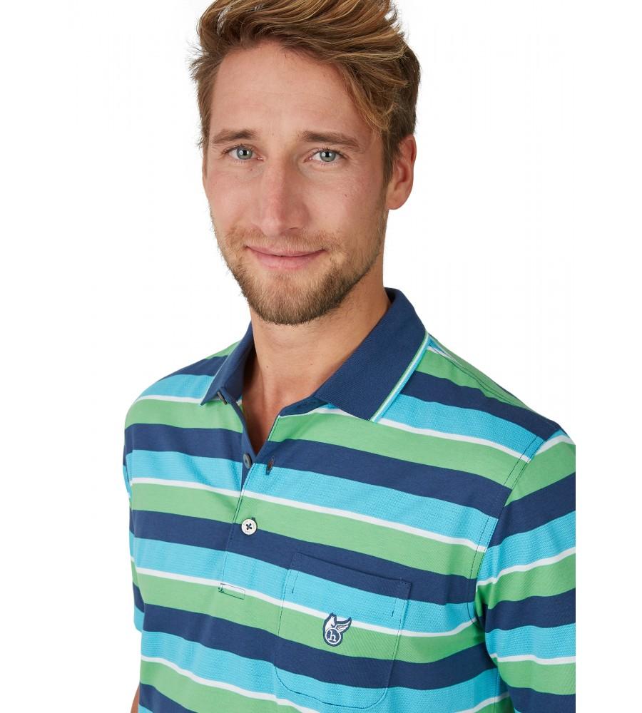 Poloshirt mit garngefärbtem Streifenverlauf 26618-638 detail1