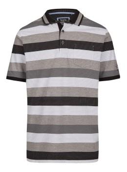Jacquard-Poloshirt mit Blockringel