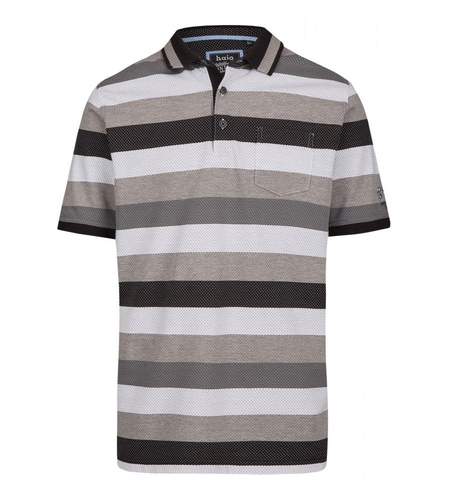 Jacquard-Poloshirt mit Blockringel 26619-100 front