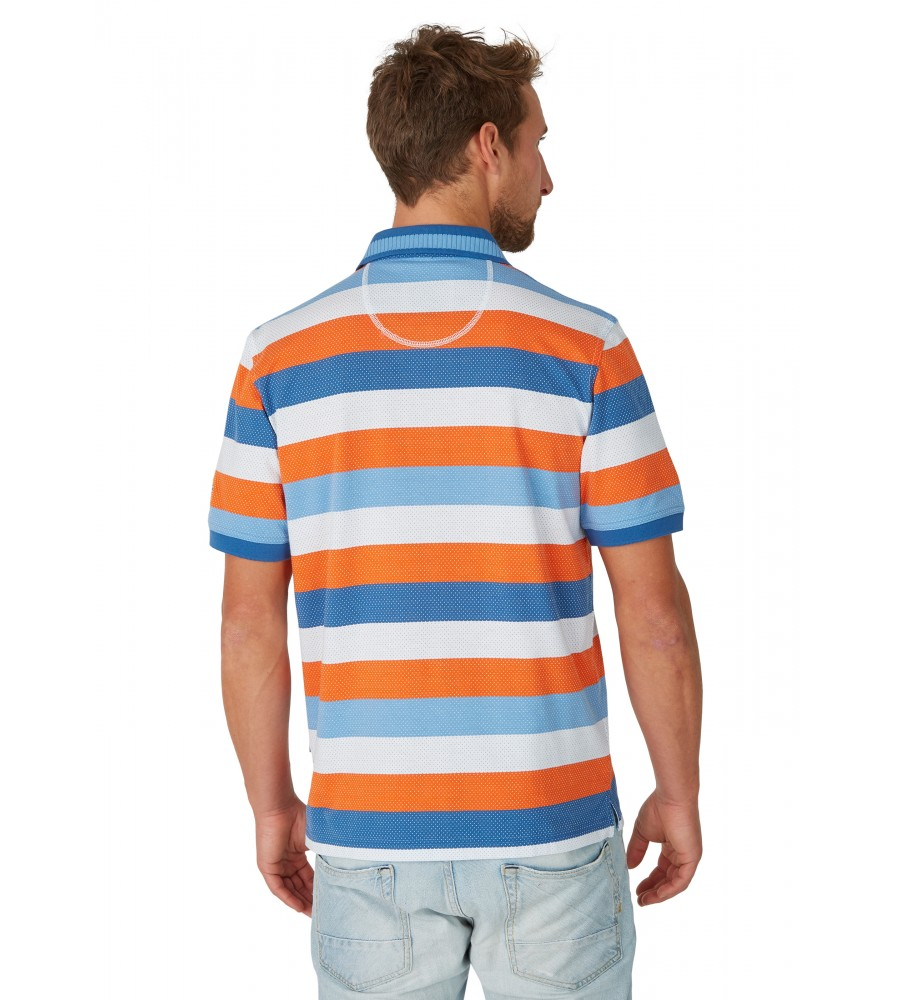 Jacquard-Poloshirt mit Blockringel 26619-600 back