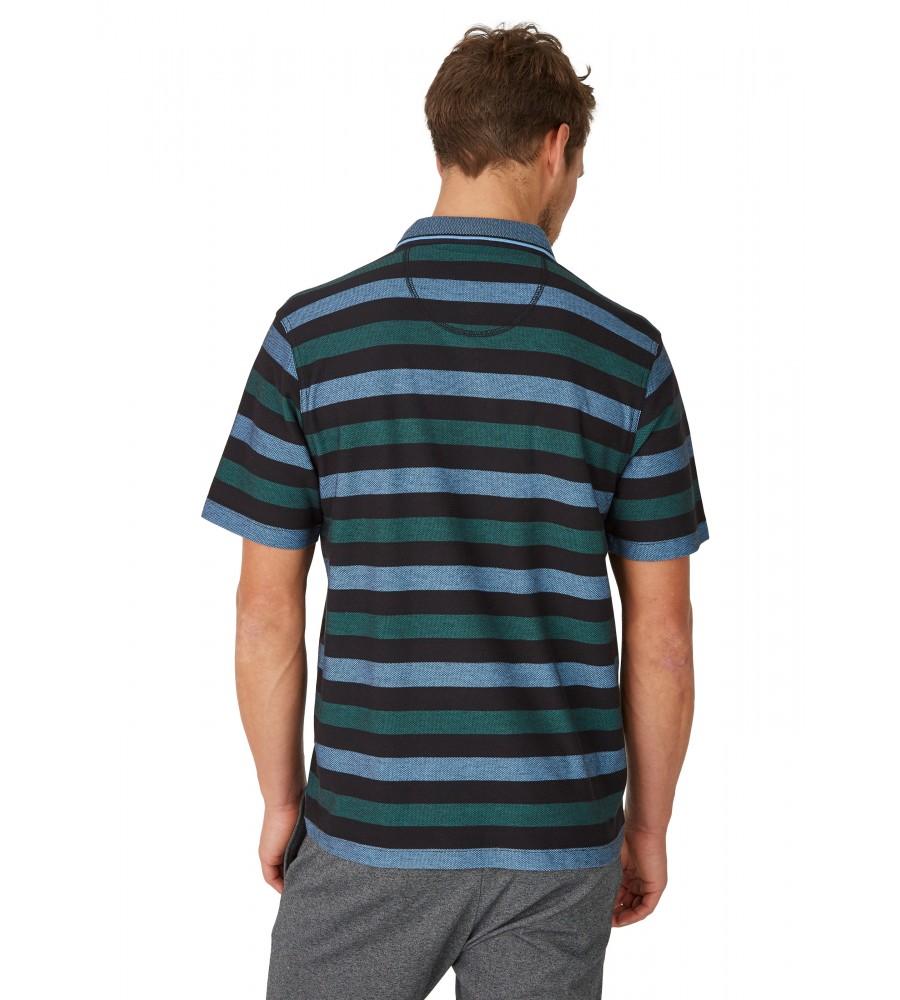 Strukturiertes Poloshirt mit Ringelmuster 26621-100 back