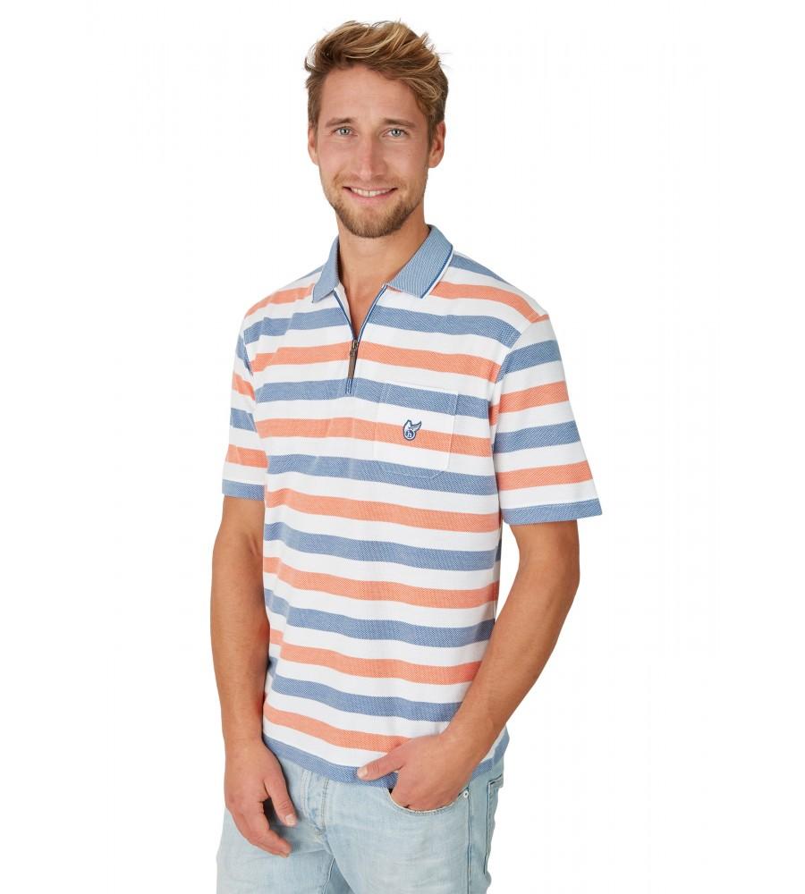 Strukturiertes Poloshirt mit Ringelmuster 26621-200 front