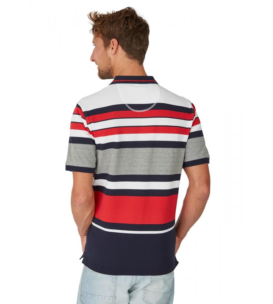 Pikee-Poloshirt mit Ringelverlauf 26624-609 back