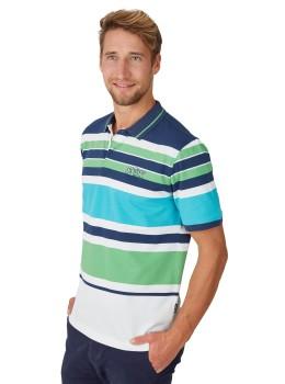 Pikee-Poloshirt mit Ringelverlauf