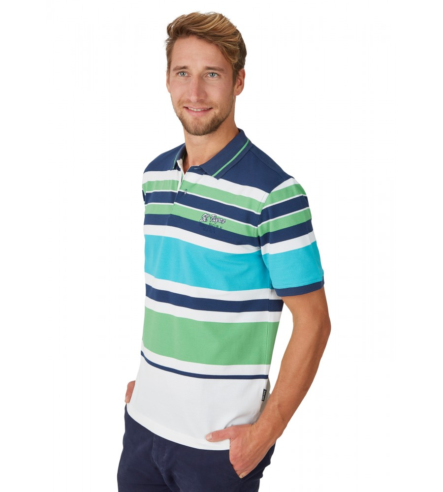Pikee-Poloshirt mit Ringelverlauf 26624-638 front